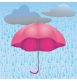 rain and umbrella vector image vector image