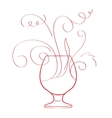 Red wine splash isolated vector image