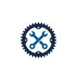 repair bike logo icon design vector image