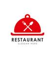 restaurant logo design template restaurant icon vector image
