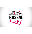 roseau welcome to word text with handwritten font vector image vector image