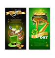 saint patricks day vertical banners set vector image vector image