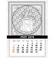 santas sack with candy and gifts calendar may vector image vector image