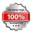 Satisfaction guarantee label vector image