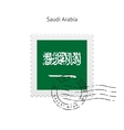 Saudi Arabia Flag Postage Stamp vector image vector image