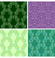 seamless mosaic pattern set vector image