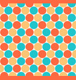 seamless pattern colored circular shapes vector image vector image