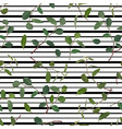 seamless pattern of green leaves and branches of vector image vector image