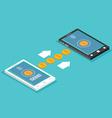 Sending and receiving money Send money wireless vector image