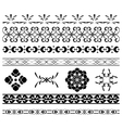 set - black borders for decoration vector image vector image