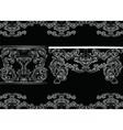 Set of Baroque Vintage Furniture and Frames vector image vector image