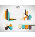 Set of flat design infographics statistics charts vector image