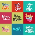 Set of Lifestyle Quotes vector image vector image