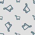 Shopping cart icon sign Seamless pattern with vector image vector image