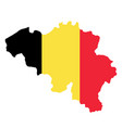 silhouette country borders map of belgium on vector image vector image