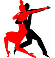 Silhouettes of a couple dancing Argentine tango vector image