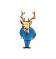 Stag Deer Hands on Hips Standing Cartoon vector image vector image