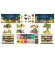 supermarket fruits and vegetables store set bundle vector image vector image