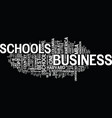 the best business schools in america text vector image vector image