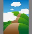 The hills and clouds vector image