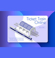 ticket train online vector image