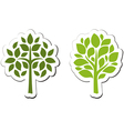 Tree emblem 2 isolated on white vector image