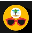 tropical vacation beach sunglasses accesorie vector image