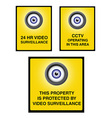 Video surveillance camera sign part 2 vector image