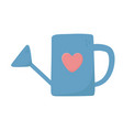 watering can heart love on white background vector image vector image