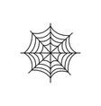 spider web halloween icon vector image