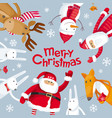 merry christmas square composition vector image