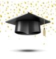 Graduation cap education concept background vector image