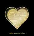 Abstract golden heart vector image vector image