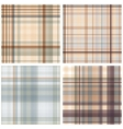 Abstract Tartan Checkered Seamless Pattern Set vector image vector image