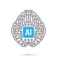ai artificial intelligence technology circuit vector image