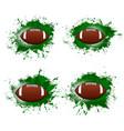 american football ball rugsport halftone banner vector image