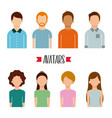 avatars people man and woman portrait character vector image vector image