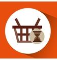 basket buy commerce buy business vector image
