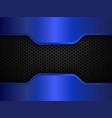 black and blue metal background design vector image vector image