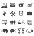 business partners and competitors icons set vector image vector image