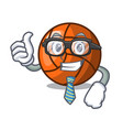 businessman volleyball character cartoon style vector image vector image