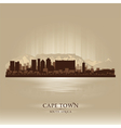 Cape Town South Africa skyline city silhouette vector image vector image