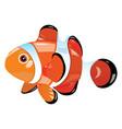 cartoon fish funny sea fish vector image vector image