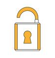 cartoon padlock security vector image vector image