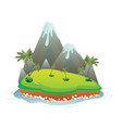 cartoon volcano island vector image