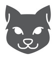 Cat glyph icon halloween and pet animal sign