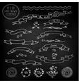 Chalkboard ribbons vector image vector image