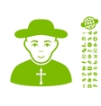 Christian Priest Icon With Free Bonus vector image vector image