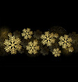 christmas card with gold snowflakes and vector image vector image