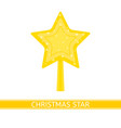 christmas decoration star isolated vector image vector image